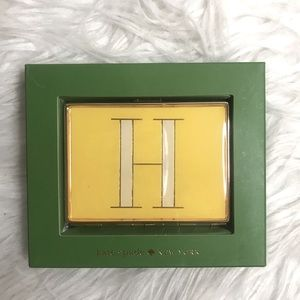"""Kate Spade Its Personal ID Holder """"H"""" By Lenox"""